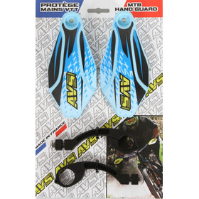 AVS Racing Kit protection mains, clear blue/black